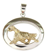 English Setter Sterling & 14k Gold Jewelry