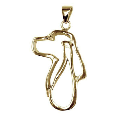 English Springer Spaniel 14K Gold Cut Out Pendant