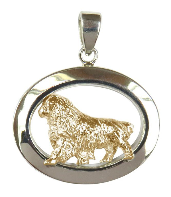 English Toy Spaniel Sterling & 14k Gold Jewelry