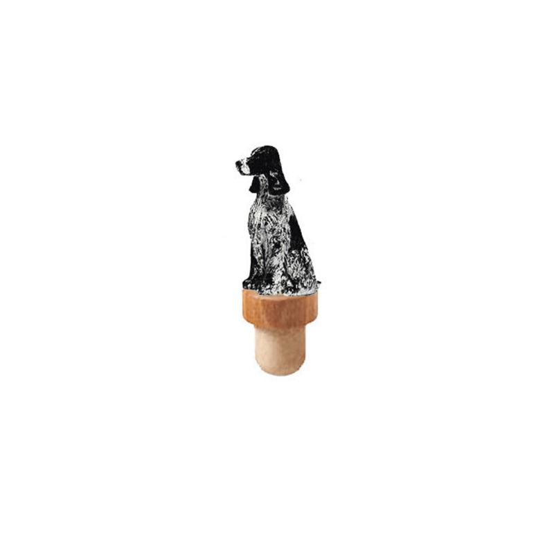 English Cocker Spaniel Figurine Cork Bottle Stopper
