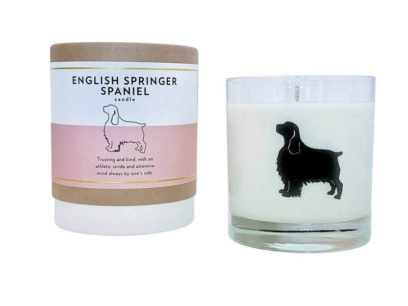 English Springer Spaniel Candle