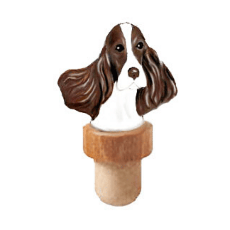 Springer Spaniel Head Cork Bottle Stopper