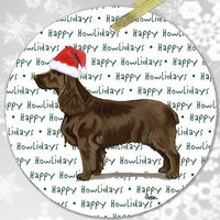 "Field Spaniel ""Happy Howlidays"" Ornament"
