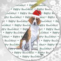 "Foxhound ""Happy Howlidays"" Ornament"