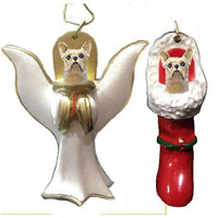 French Bulldog Ornament Set
