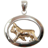 French Bulldog Sterling & 14k Gold Jewelry
