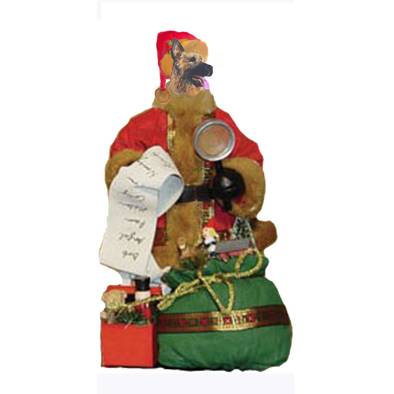 German Shepherd Dog Toy List Santa Statue
