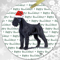 "Giant Schnauzer ""Happy Howlidays"" Ornament"