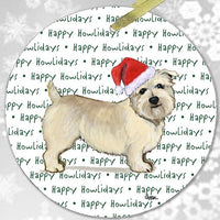 "Glen of Imaal Terrier ""Happy Howlidays"" Ornament"