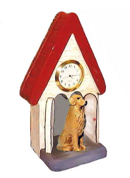 Golden Retriever Figurine Clock