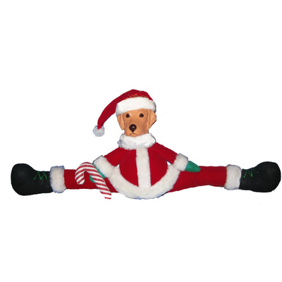 Golden Retriever Mantle Santa