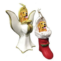 Golden Retriever Ornament Set