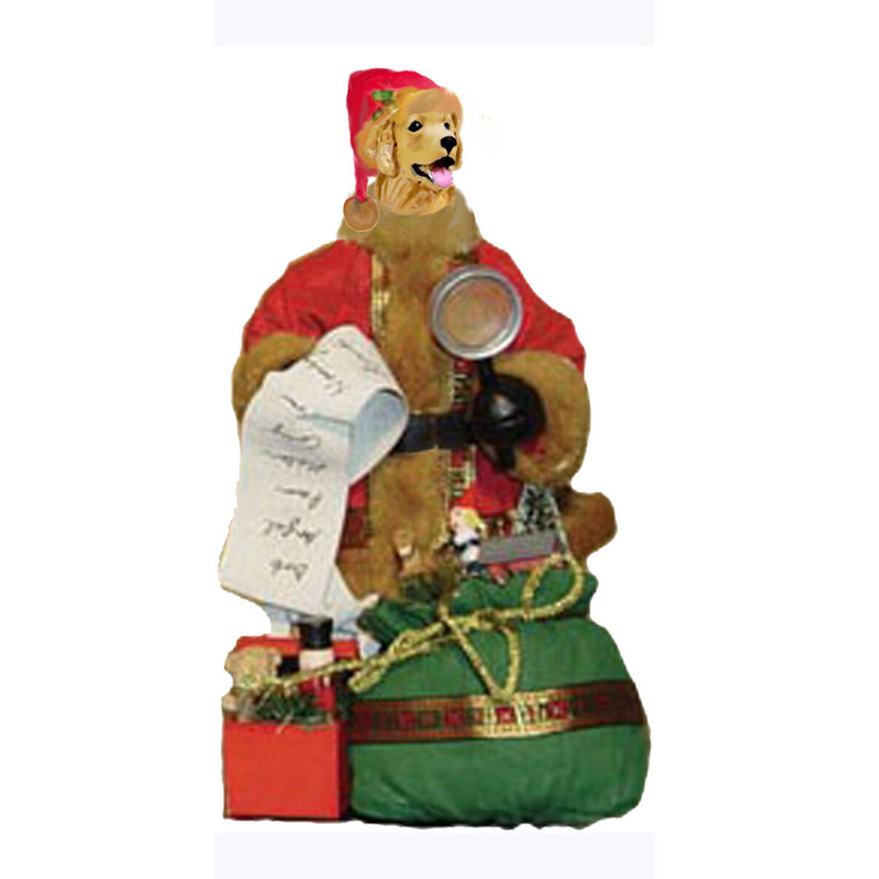 Golden Retriever Toy List Santa Statue
