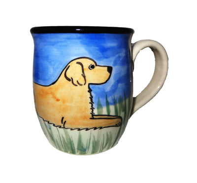 Golden Retriever Hand-Painted Ceramic Mug