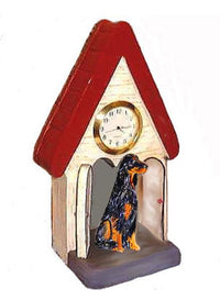 Gordon Setter Figurine Clock