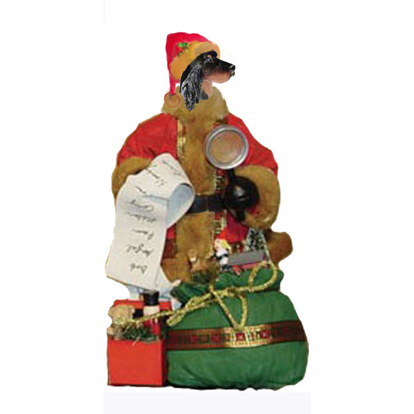 Gordon Setter Toy List Santa Statue