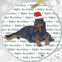"Gordon Setter ""Happy Howlidays"" Ornament"
