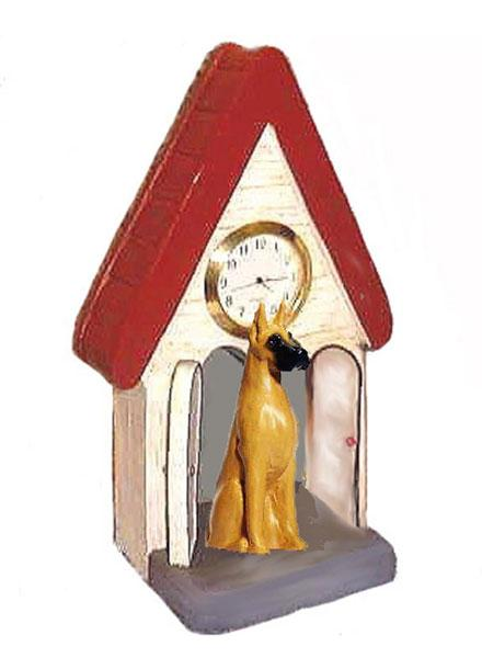 Great Dane Figurine Clock