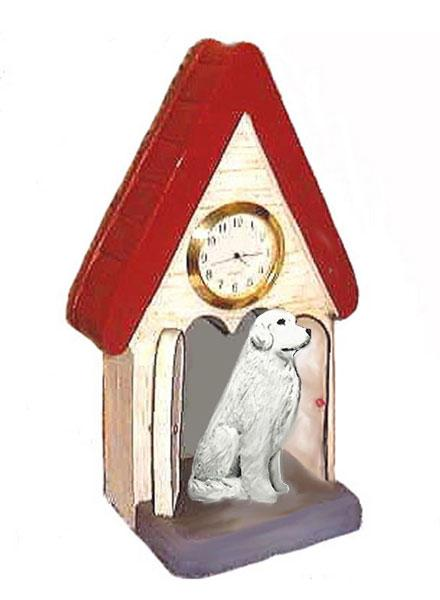 Great Pyrenees Figurine Clock