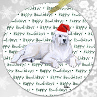 "Great Pyrenees ""Happy Howlidays"" Ornament"