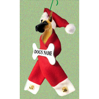 Great Dane Santa Bone Ornament