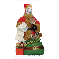 Great Pyrenees Toy List Santa Statue