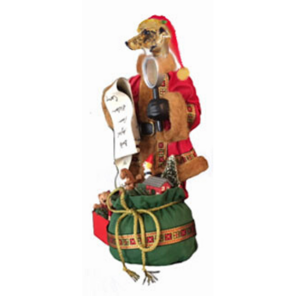 Greyhound Toy List Santa Statue
