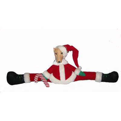 Greyhound Mantel Santa