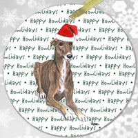 "Greyhound ""Happy Howlidays"" Ornament"