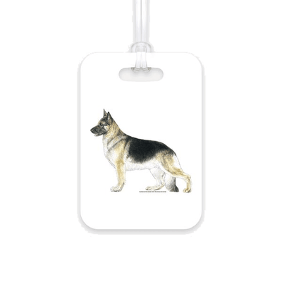 German Shepherd Dog Luggage Tag