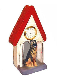 German Shepherd Dog Figurine Clock