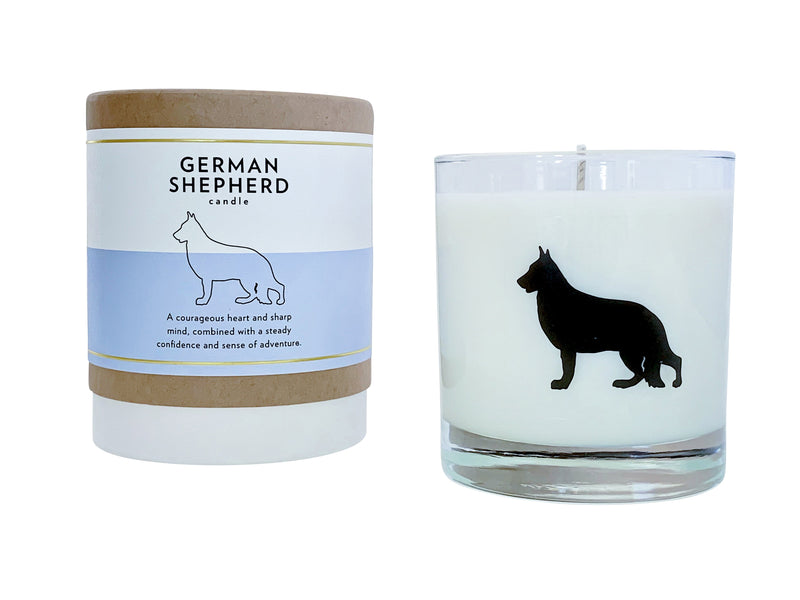 German Shepherd Dog Candle