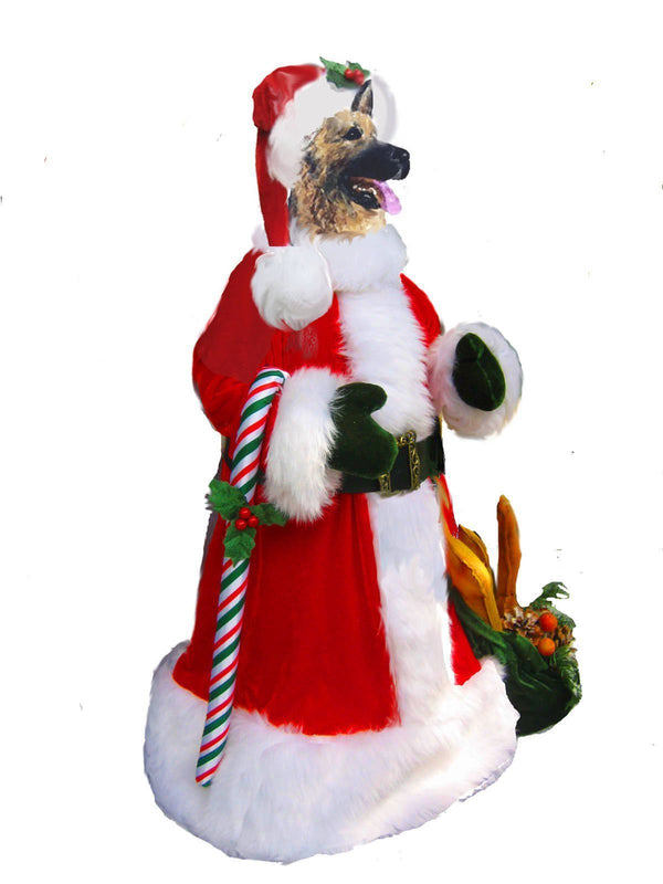 German Shepherd Dog Large Santa Statue