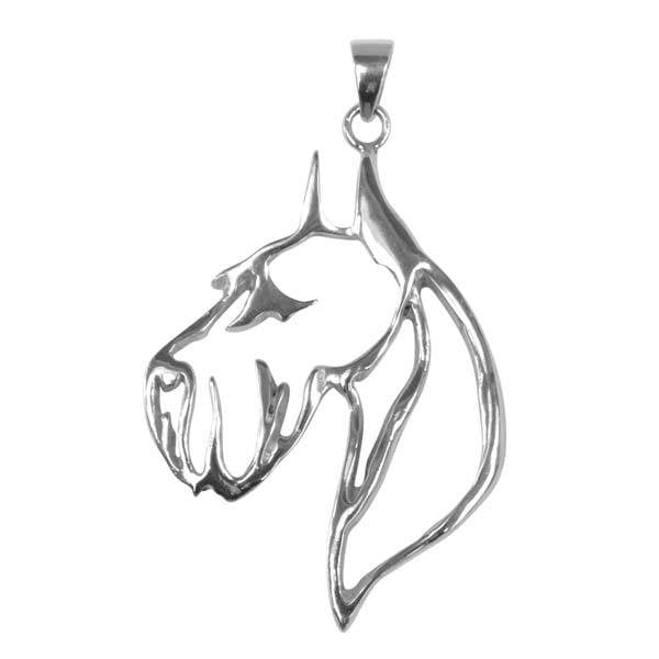 Giant Schnauzer Sterling Silver Cut Out Pendants
