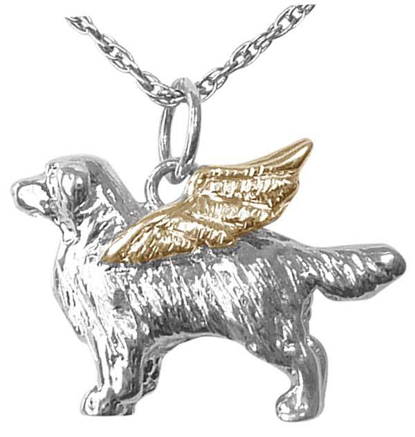 Golden Retriever Angel Charm