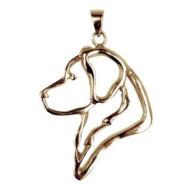 Golden Retriever 14K Gold Cut Out Pendant