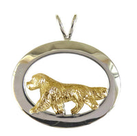 Golden Retriever Sterling & 14k Gold Jewelry