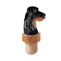 Gordon Setter Head Cork Bottle Stopper