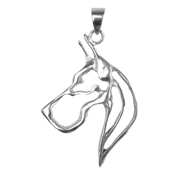 Great Dane Sterling Silver Cut Out Pendants