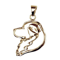 Great Pyrenees 14K Gold Cut Out Pendant