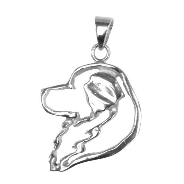 Great Pyrenees Sterling Silver Cut Out Pendants