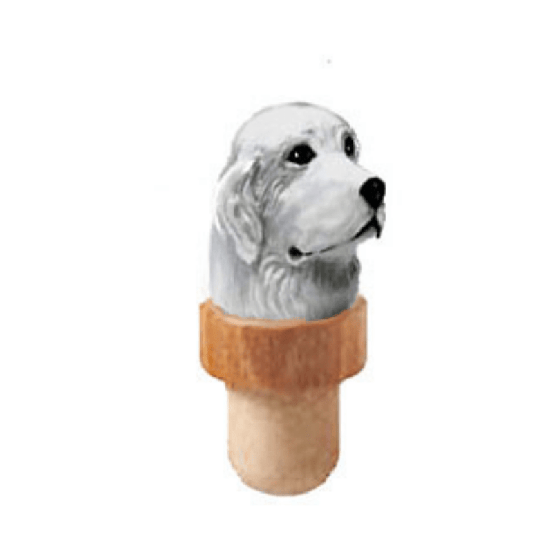 Great Pyrenees Head Cork Bottle Stopper