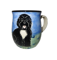 Portuguese Water Dog Hand-Painted Ceramic Mug