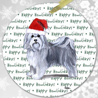 "Havanese ""Happy Howlidays"" Ornament"