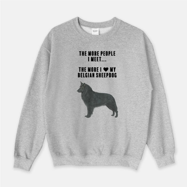 Belgian Sheepdog Love Unisex Crew Neck Sweatshirt