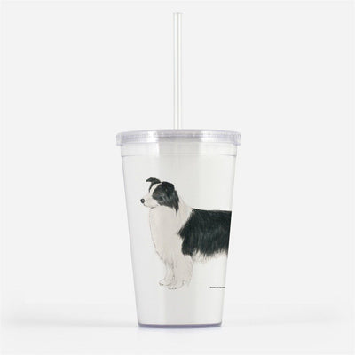 Border Collie Beverage Tumbler