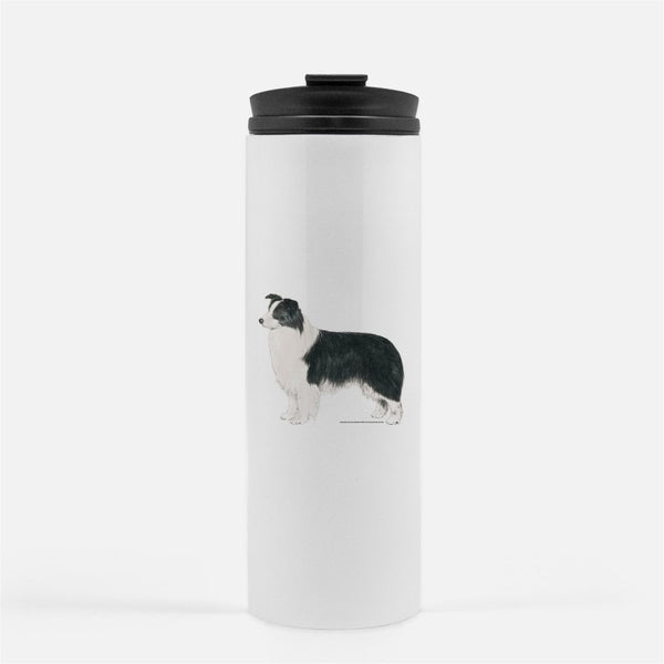 Border Collie Thermal Tumbler