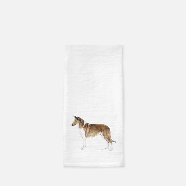 Smooth Collie Tea Towel