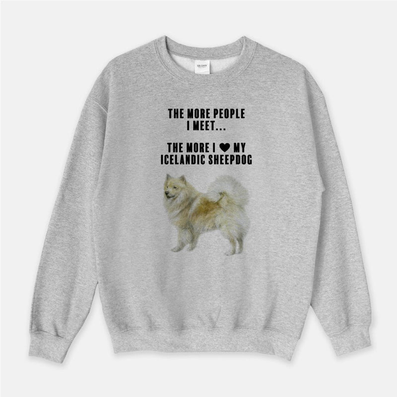 Icelandic Sheepdog Love Unisex Crew Neck Sweatshirt