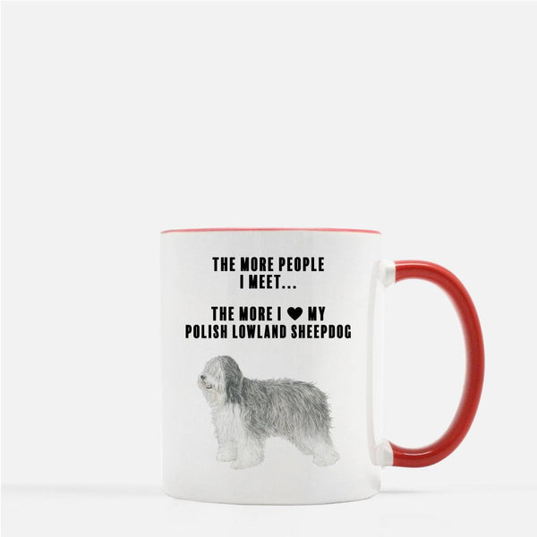 Polish Lowland Sheepdog Love Coffee Mug